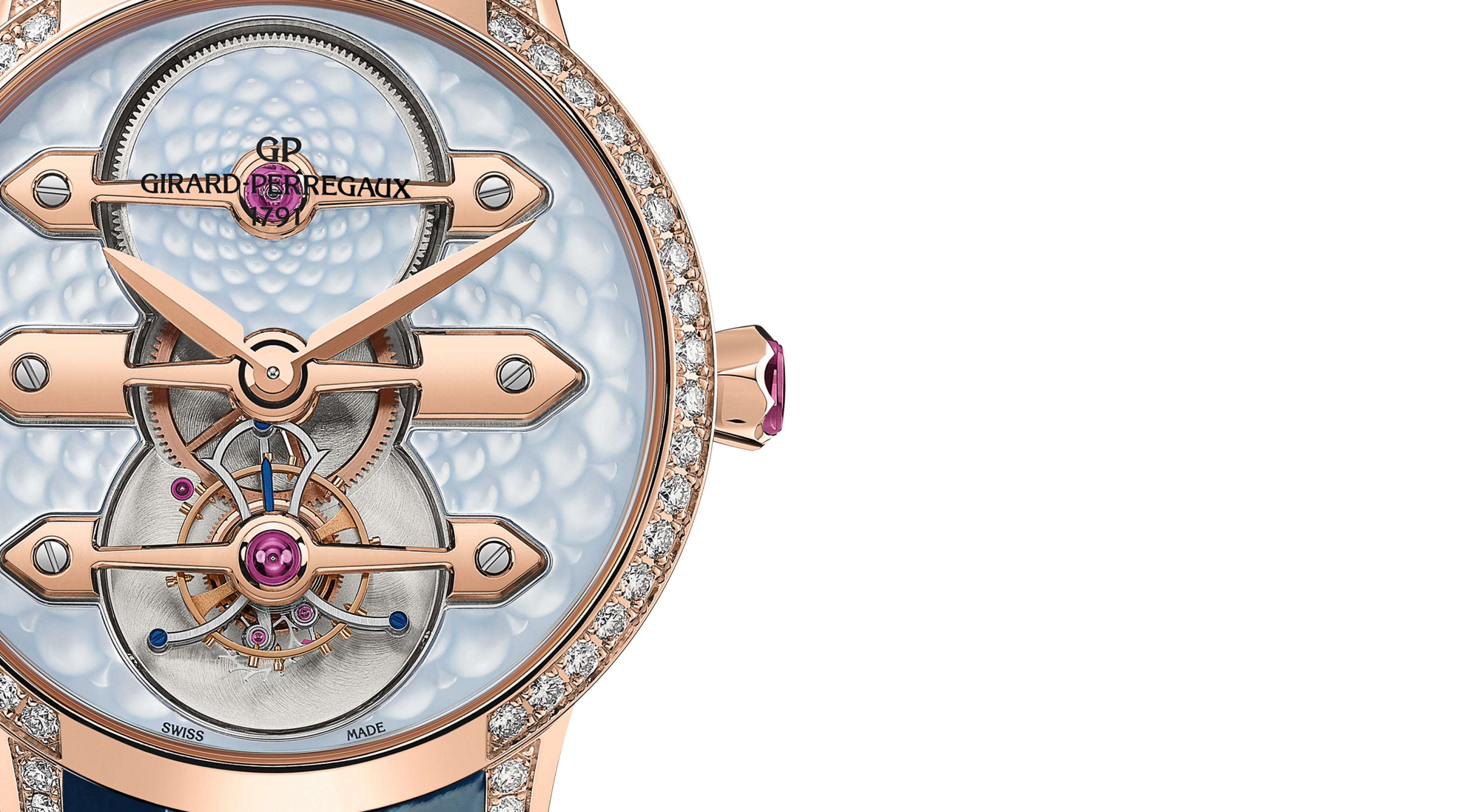 Tourbillon with Three Gold Bridges Lady